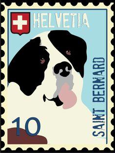 Saint Bernard Art Poster by GoingPlaces2