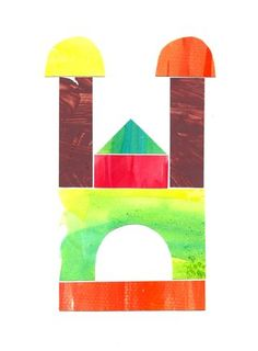 Watercolor Building Blocks/great for preschool
