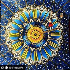 Incredible colorful and draw @anettallen76 with @repostapp ・・・ #coloring #coloringbook #dariasong #thetimechambercoloringbook #detmagiskerommet