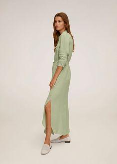 Striped shirt dress - Woman | Mango Vietnam