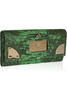 Mulberry  Travel Continental lizard-effect leather wallet