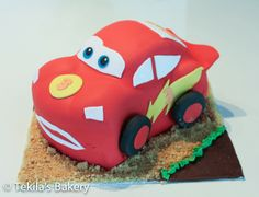 Salama McQueen kakku - Lightning McQueen Cake
