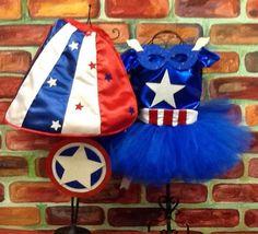 Captain America  tutu costume complete sizes 6 - 10