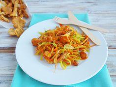 Z bedničky: Cuketovo-mrkvové špagety s kuriatkami na tymiáne