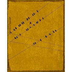Birds at Rest Ochre Canvas