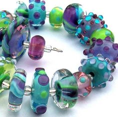 CONCORD LAMPWORK BEAD SET by chestnutridgedesigns on Etsy