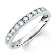 Channel Set Round Diamond Mens Wedding Band - Our Price: $629.99 - Total diamond weight is 0.33 carat. High polished inner edge of surface with beautiful crafted ring. GIA certified round diamonds with free shipping available. http://www.mybridalring.com/Bands/channel-set-round-diamond-wedding-band/