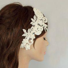 Wedding Fascinator Bridal Headband Made with by MammaMiaBridal, $43.00
