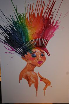 crayon melt hair... sick concept!! maybe more of a headdress