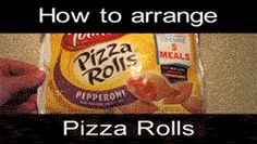 How to Arrange Pizza Rolls | (gif)