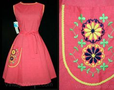 Girl Next Door Wrap Dress - 50s - 60s - Fit n Flare - Full Skirt - Wraps in Back - NWT - Deadstock - Size 12 13 - Bust 38.5 Waist 32 - 41814