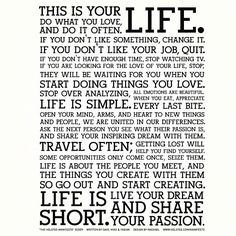 This is your Life. @thenetworkhub, from the Holstee Manifesto