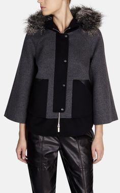 Пальто с отделкой из меха Karen Millen. Цвет , купить за 6775р