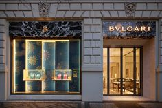 Italian jeweler and watchmaker Bvlgari has recently opened a new store in Prague. The new store which is located on the prestigious Pařížska St covers 199 square metres. The boutique showcases Bvlgari timeless collections and has the VIP area, which … Entrance Design, Facade Design, Viria, Showroom Interior Design, Jewellery Shop Design, Retail Windows, Bath And Beyond Coupon, Jewelry Stores, Jewelry Shop
