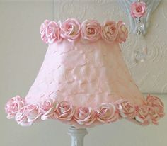 Beautiful lamp shade for little girls room.