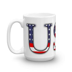 USA Flag Font Mug