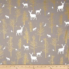 Designed by Violet Craft for Michael Miller, this cotton print features metallic gold foil printing and is perfect for quilting, apparel and home decor accents.  Colors include white, grey and metallic gold.