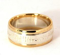 Wedding Ring with Ogham engraving by TheIrishJeweller on Etsy, $395.00