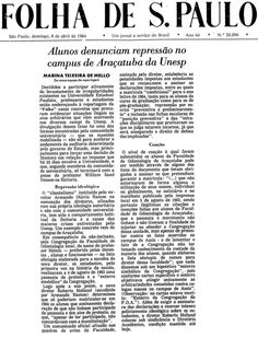 Alunos denunciam repressão no campus de Araçatuba da Unesp