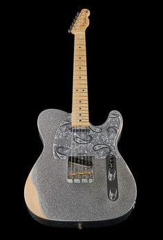 Fender Brad Paisley Road Worn Tele – Thomann www.thomann.de  #silver #guitar #guitars #picoftheday #tele #fender #telecaster #instamusic #music #musician #paisley #guutarist #electricguitar #glitter #sparkling #amazing #sparkles