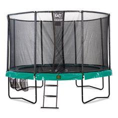Exit Supreme on todella laadukas trampoliinipaketti perheeseen jossa tykätään hyppiä ja tehdä isoja temppuja! Paksu ja leveä reunapehmuste, turvaverkko sekä tikkaat. Mallin mukana tulee myös exitin todella näppärä säilytyspussi johon voi jättää kengät, avaimet ja kännykät hyppimisen ajaksi.   #trampoliini #trampoliinipaketti, #Exit