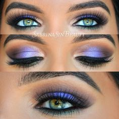 LOVE the purple. Best of all, purple actually looks quite good on me, so I could definitely pull this off. You know... if I had any skill whatsoever when it came to makeup.