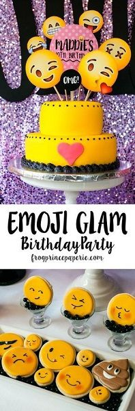 Emoji Birthday Party Cake 9th Parties 11th Ideas Girls