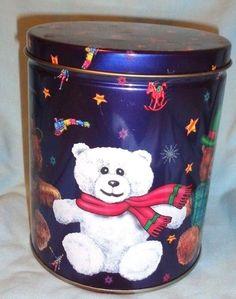 Maurice Lenell CookyTin, 1998, Christmas Bears, 6 T, 5 A