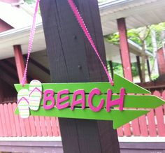 Christams in July SALE  Beach Sign in Pink and by TheLittleNursery, $15.00
