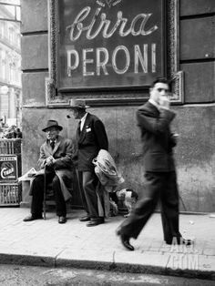 Men in a Street of Napoli Photographic Print at Art.com
