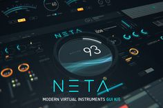 NETA: Modern virtual instrument UI by TIT0 on @creativemarket