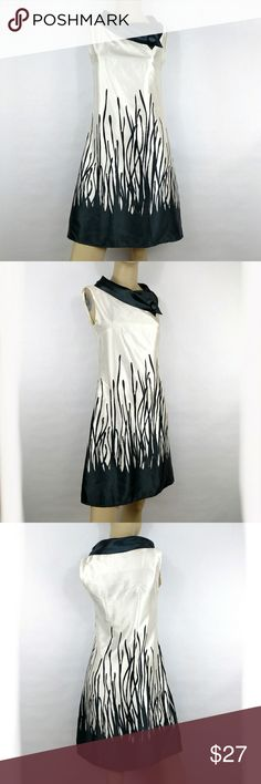 H&M Beige/Black Shift Party career Dress. Size 6 H&M Beige/Black Shift Party career Dress. Size 6 100% Polyester (G) H&M Dresses