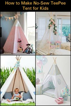 If you've been wanting to make a teepee tent but never got around to doing so because you hate the sewing part, here's a DIY no-sew teepee tent project for you.