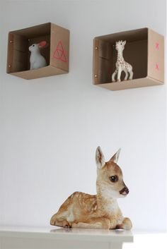 DIY shelves. Cute