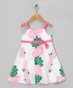 Take a look at this White & Pink Floral A-Line Dress - Girls by RJC Girls on #zulily today!
