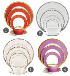 fun wedding china patterns...number 4 looks like the tea pot my Grandmother gave me.