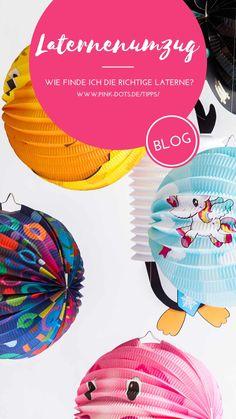 Welche Laterne passt am besten zu deinem Kind? Welches Motiv? Und selbstgebastelt oder nicht? Wir helfen dir, die für DEINEN Schatz geeignetste Laterne zu finden! Blog, Dots, Pink, Paper Lanterns, Animal Themes, Balloons, Simple Diy, Childhood, Stitches