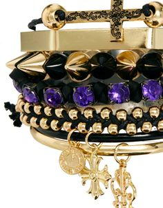 River Island | River Island Victoriana Spike And Friendship Bracelet Pack at ASOS