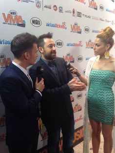 Mando Gasteratou @ MAD VMA kick off party, in her #BSB_SS14 #geo_prints green dress! #madvma14