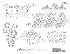 free embroidery pattern (Downton Abbey)