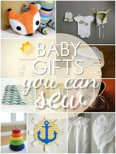 Baby Gifts You Can Sew. I want to make that fox for my classroom!