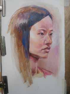 life drawing of model, acrylic on canvas2