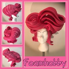 Pink englisch style Foam Wigs, Wig Making, Fancy Dress, Party Time, Pink Ladies, Centerpieces, Make It Yourself, Costumes, Halloween