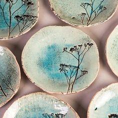 Ceramic dinner plate with a leaf,ceramic plate with a plants imprints, pottery plate with a plants imprints,Ceramic dish with plant imprint