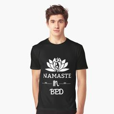 'Good Vibes Only Blue Lotus With Stars Icons' Graphic T-Shirt by White Lotus, Blue Lotus, Bed Yoga Poses, Graphic Prints, Art Prints, Good Vibes Only, Sell Your Art, Namaste, Shirt Designs