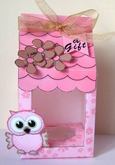 **All NEW Template**    Tiny Milk Carton Box    Box Canopy    Easter Egg box inner    3D decoupage     Tiny gift Tag Greetings    A really fun sweet tiny milk carton easter egg or treat box.  The box closes over the top with a pretty canopy that finishes off the top of the box.    The window area is created with one of my easifold frames so really easy to make and with the addition of a small piece of acetate makes a great viewing window.    The decoupage is separate so you can choose where…