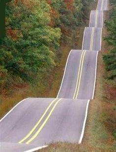 bluepueblo:    Roller Coaster Highway, Oklahoma  photo via dengalee