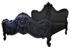 Jimmie Martin black baroque bed frame