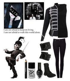 """The Black Parade"" by katlanacross ❤ liked on Polyvore featuring M&Co, Witchery, Manic Panic, Noir Cosmetics and mychemicalromance"