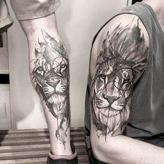Tattoo design, tattoo designs, simple lion tattoo, lion tattoo on thigh Simple Lion Tattoo, Lion Tattoo On Thigh, Lion Tattoo Sleeves, Lion Head Tattoos, Leo Tattoos, Forearm Tattoo Men, Arm Band Tattoo, Body Art Tattoos, Sleeve Tattoos